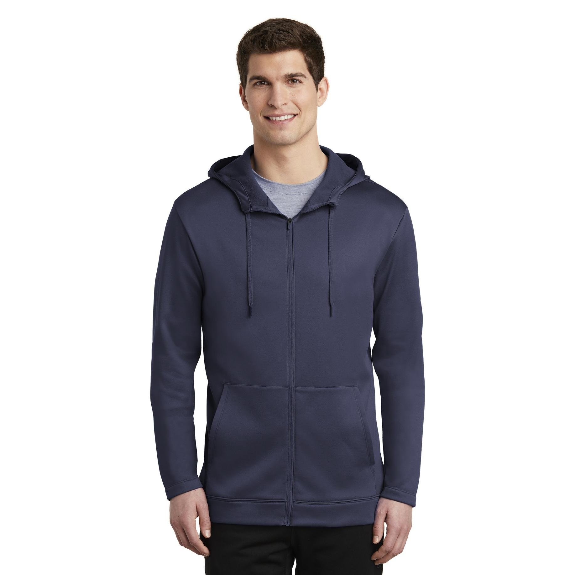 eb8d83eb0c9f Nike NKAH6259 Therma-FIT Full-Zip Fleece Hoodie - Midnight Navy ...