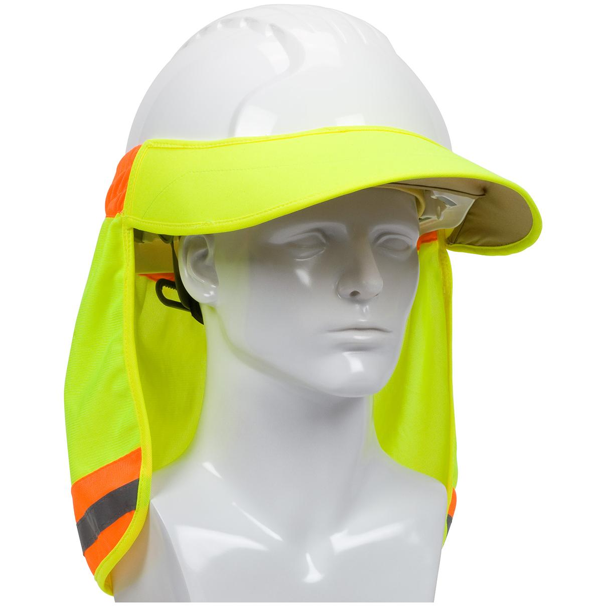 PIP 396-800 EZ-Cool Hi-Vis Hard Hat Visor and Neck Shade - Yellow Lime a1facd23ab9