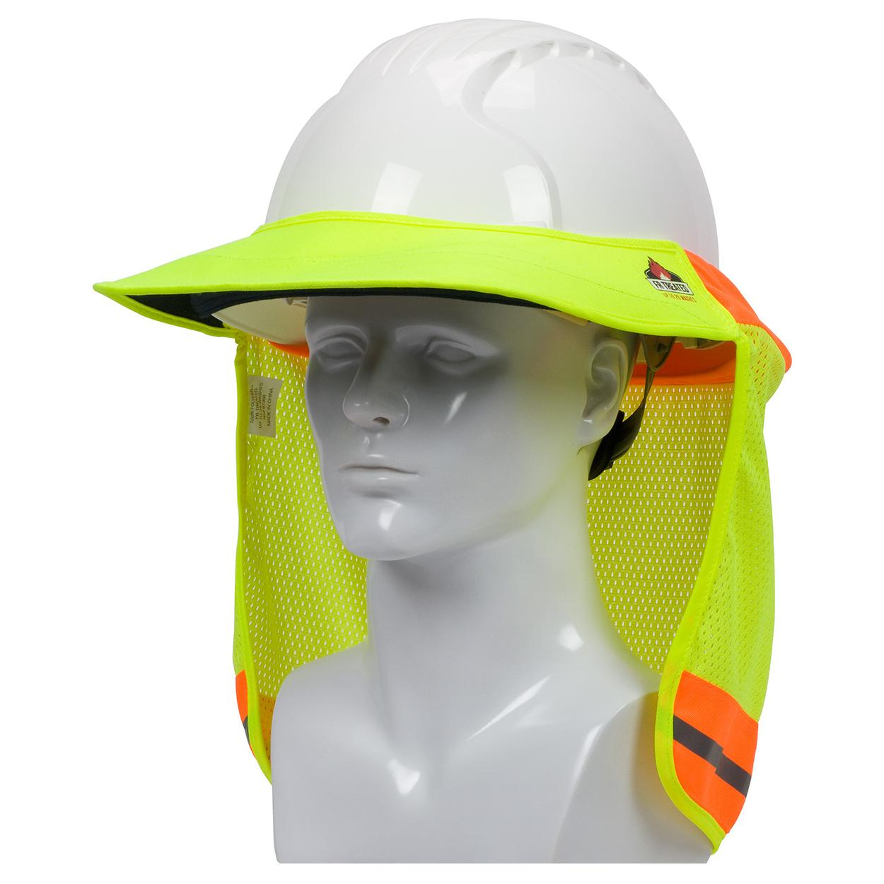 a767c70b PIP 396-801FR FR Treated Hi-Vis Hard Hat Visor and Neck Shade ...