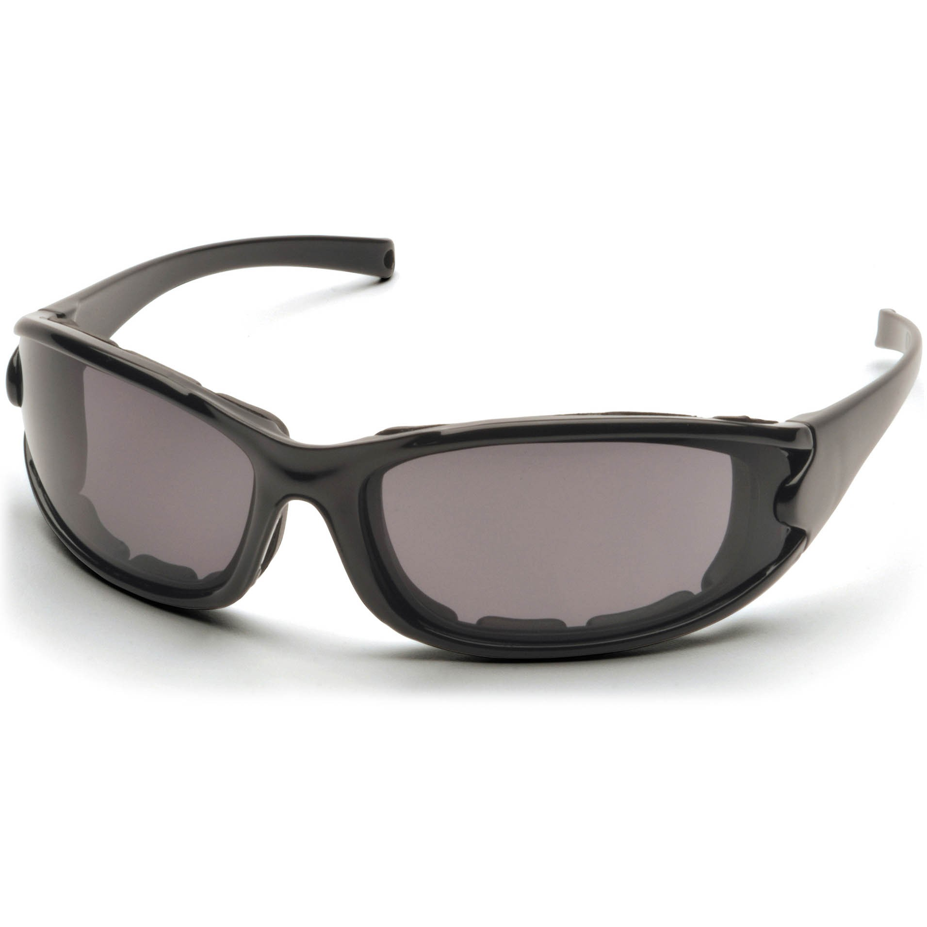 591e751caca Pyramex PMXCEL Safety Glasses - Black Foam Lined Frame - Gray Polarized  Anti-Fog Lens