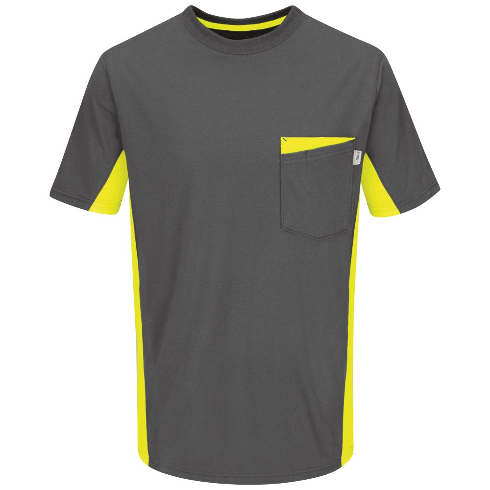 Red Kap RT32YG Color Blocked Hi-Viz Work T-Shirt - Safety Grey ...