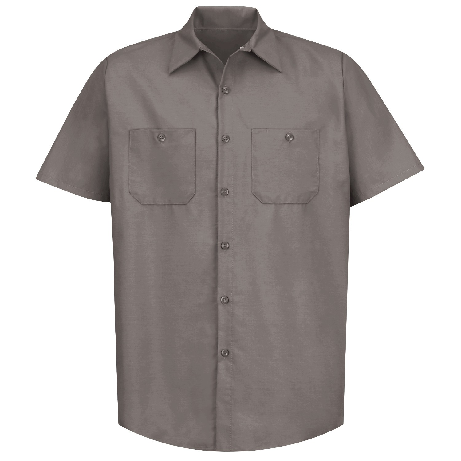 a5c6b9e5 Red Kap SP24 Men's Industrial Work Shirt - Short Sleeve - Grey ...