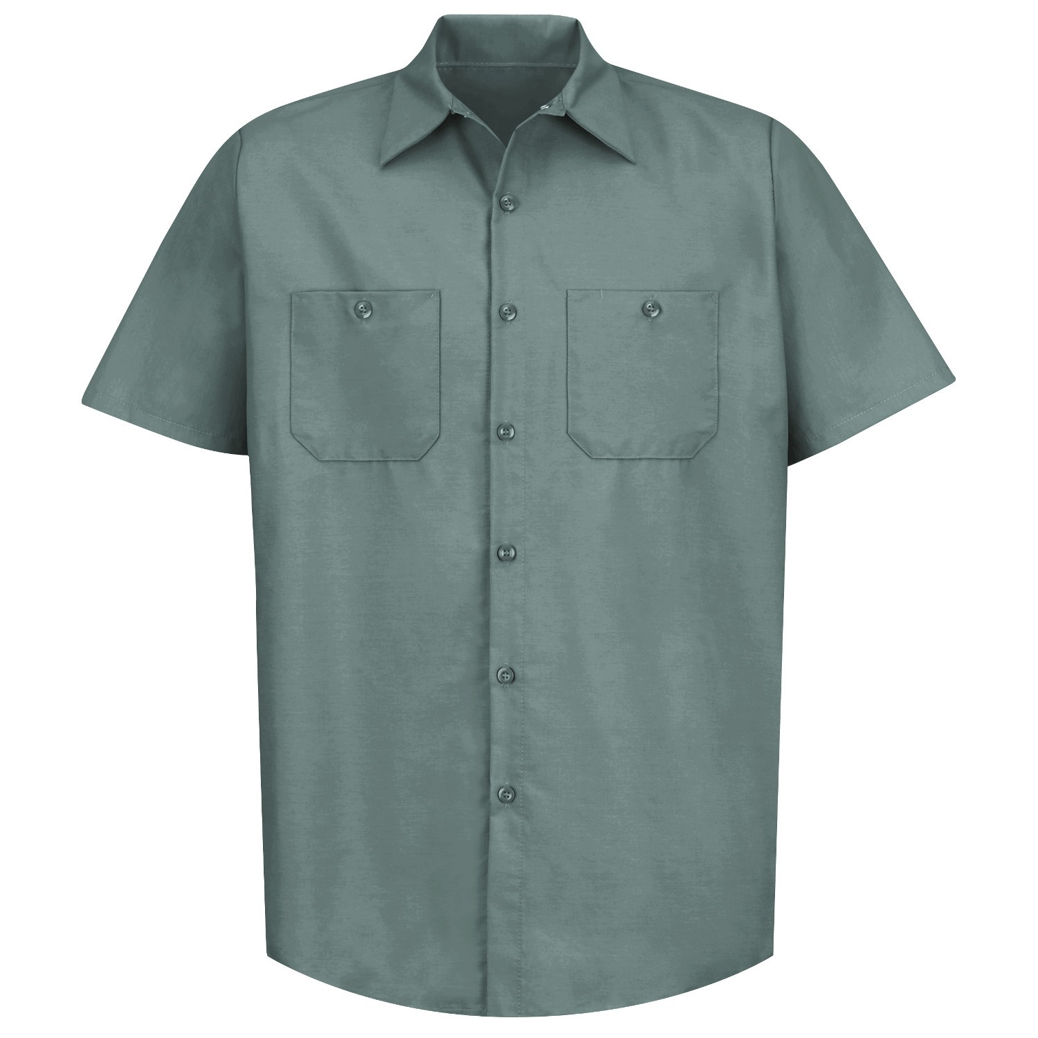 90c308cba555e Red Kap SP24 Men s Industrial Work Shirt - Short Sleeve - Light Green