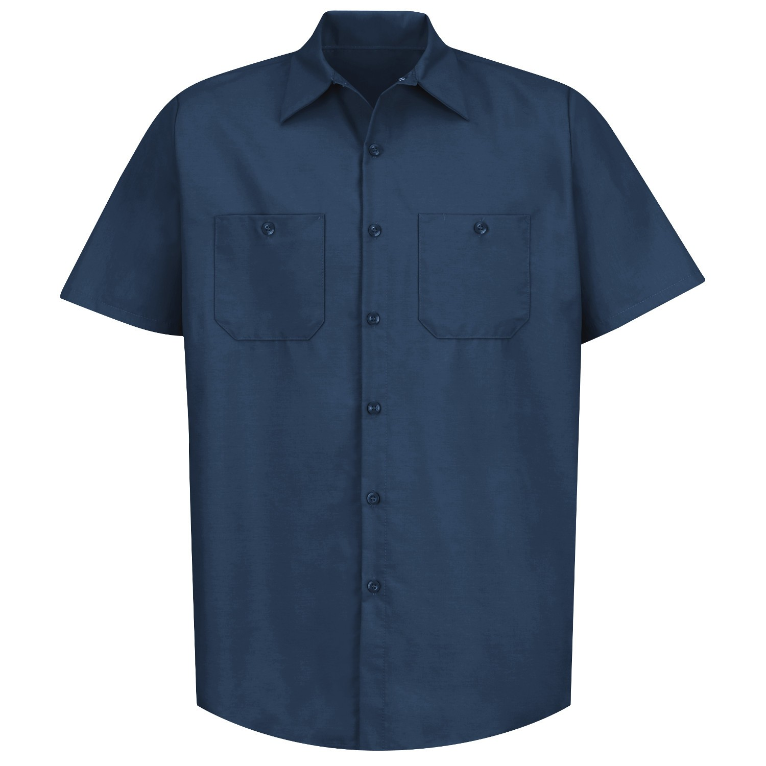 57364e92f9ea2 Red Kap SP24 Men s Industrial Work Shirt - Short Sleeve - Navy ...