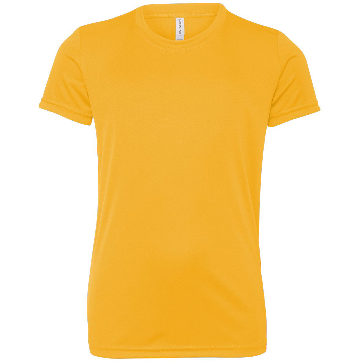 797ba0533ae0 All Sport Y1009 Youth Performance Short Sleeve T-Shirt - Sport Athletic Gold