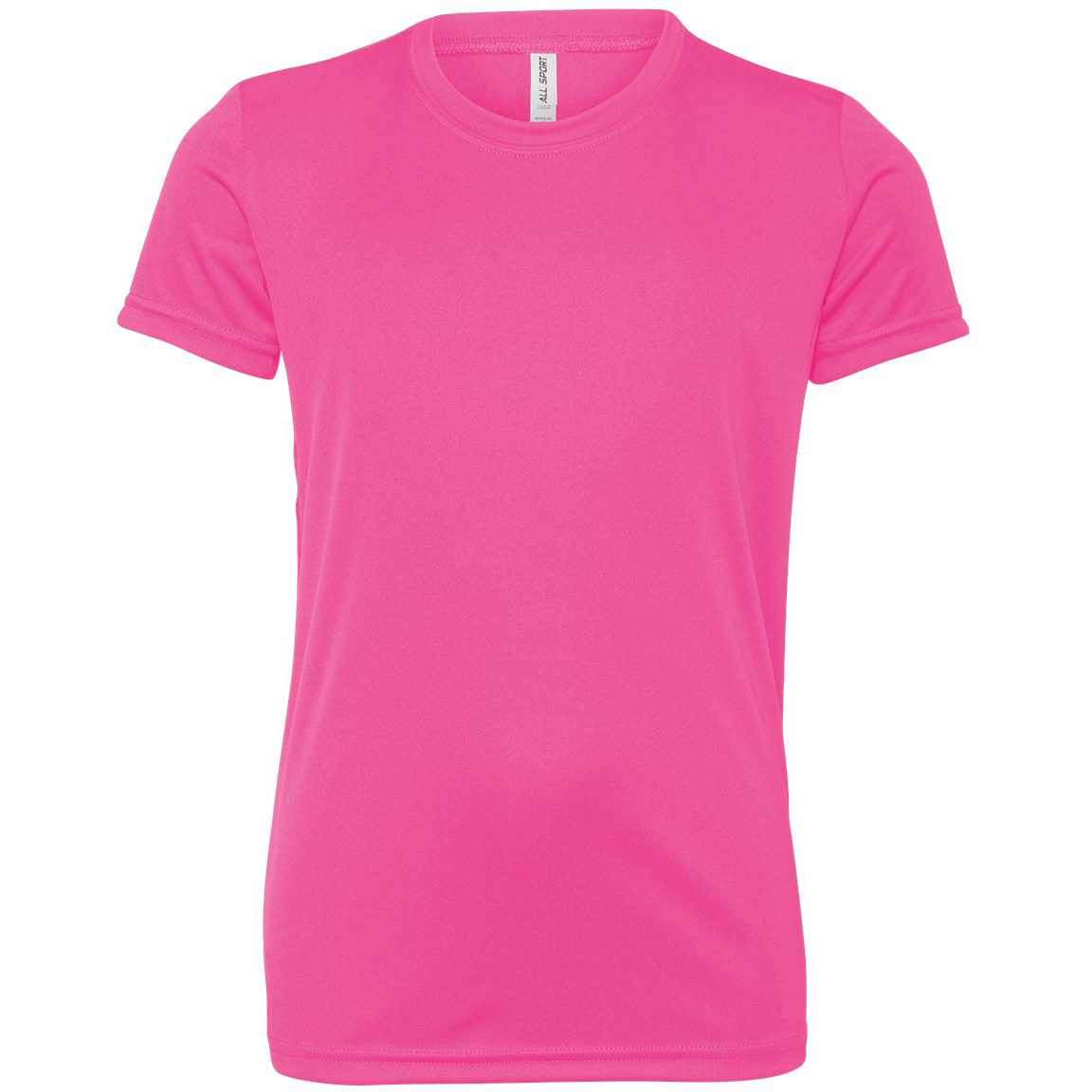 76ac60a56bcf All Sport Y1009 Youth Performance Short Sleeve T-Shirt - Sport Charity Pink