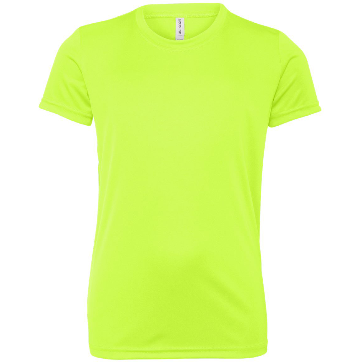d26614919689 All Sport Y1009 Youth Performance Short Sleeve T-Shirt - Sport Safety Yellow