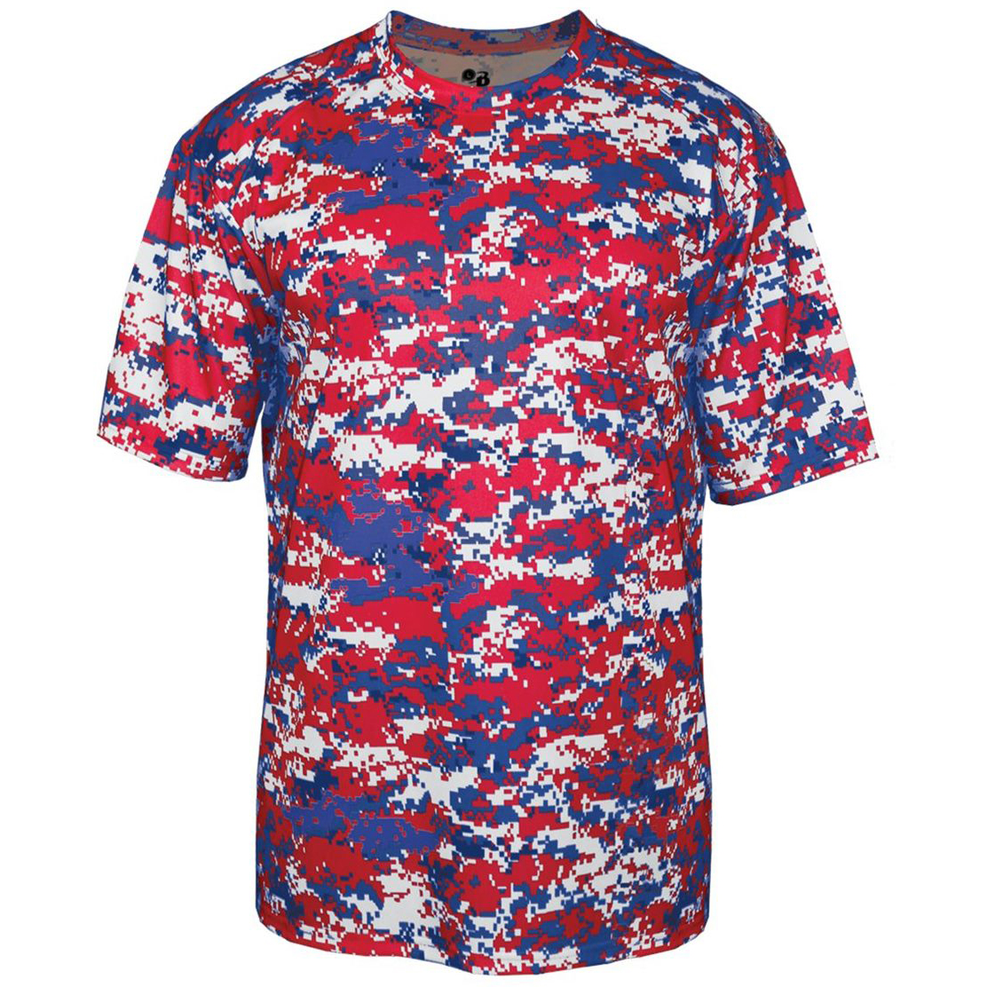 a4bd98b1f Badger Sport 4180 Digital Camo Short Sleeve T-Shirt - Red Royal Digital