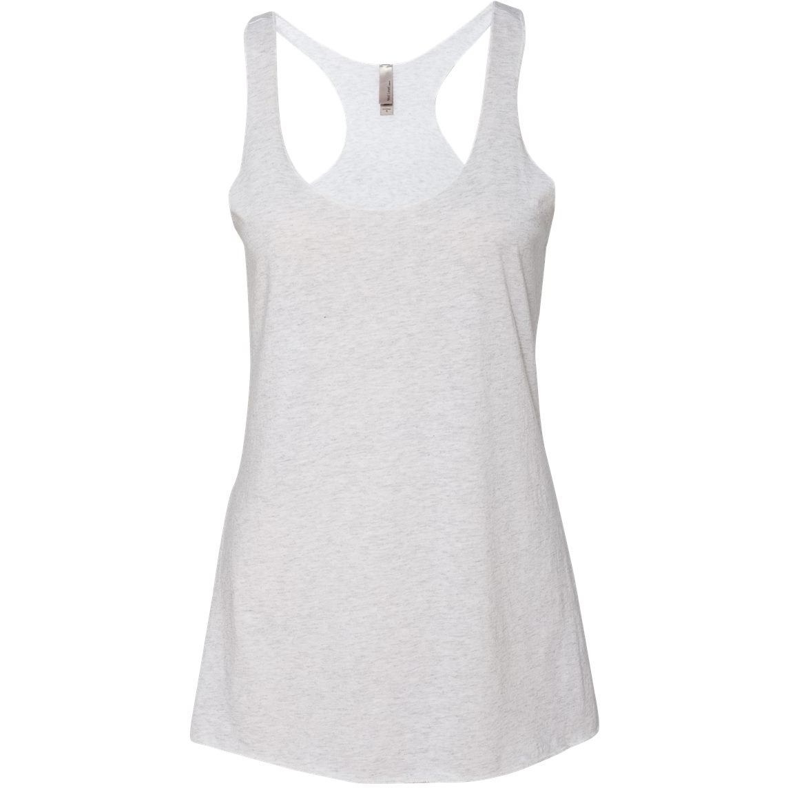 f02646cae5be1 Next Level 6733 Women s Triblend Racerback Tank - Heather White ...