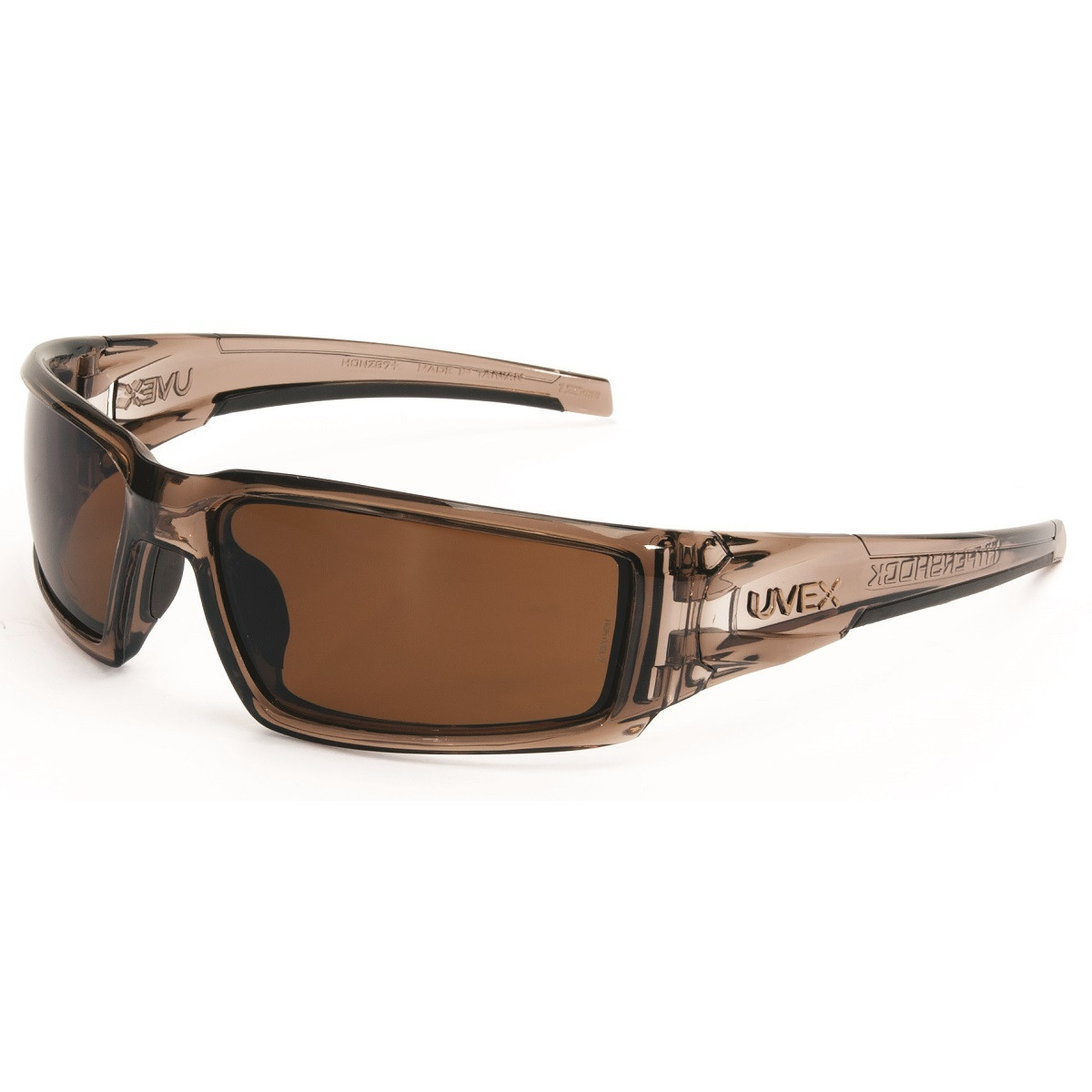 62d8f99b6f Uvex S2969 Hypershock Safety Glasses - Smoke Brown Frame - Espresso Polarized  Lens