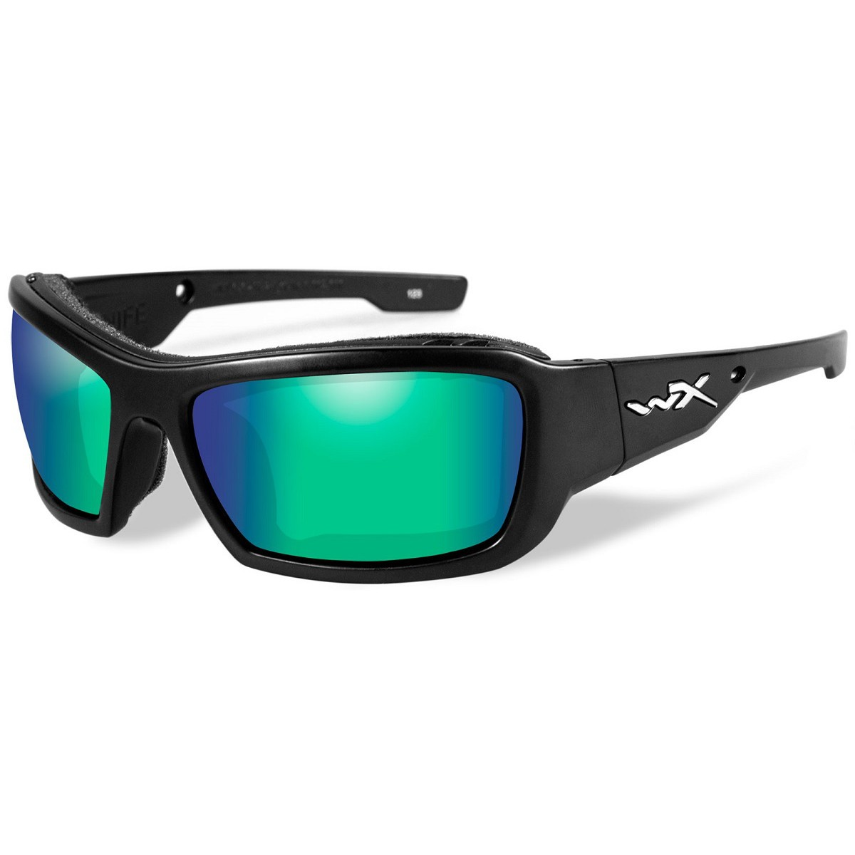 9e91c84145 Wiley X CCKNI07 WX Knife Sunglasses - Matte Black Frame - Polarized Emerald  Lens