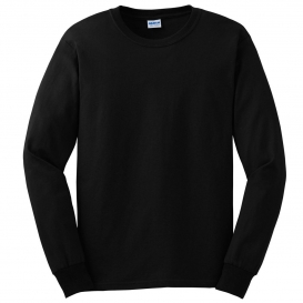 24687b3e Gildan G2400 Ultra Cotton Long Sleeve T-Shirt - Black. G2400-Black. G2400- Black
