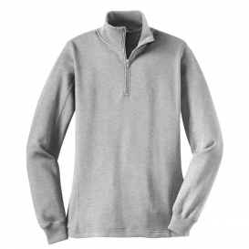 68c0e01ee0be Sport-Tek LST253 Ladies 1 4-Zip Sweatshirt - Athletic Heather ...