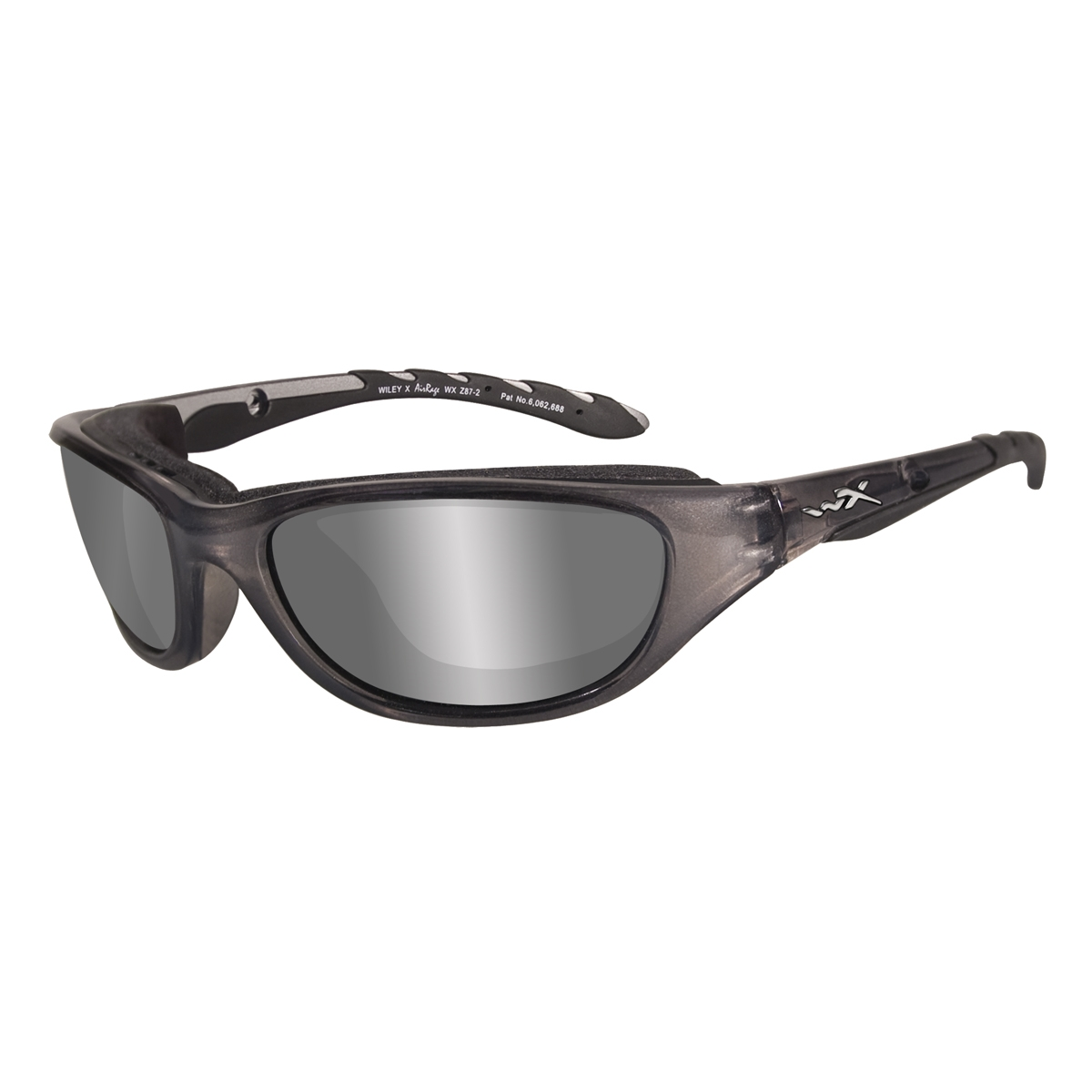 94defedbd6 Wiley X AirRage Sunglasses - Crystal Metallic Frame - Polarized Silver  Flash Lens