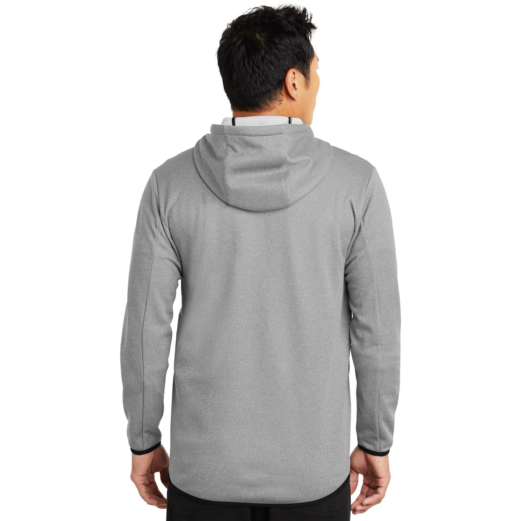 3a9ff29ef4e2 Nike NKAH6268 Therma-FIT Textured Fleece Full-Zip Hoodie - Grey ...