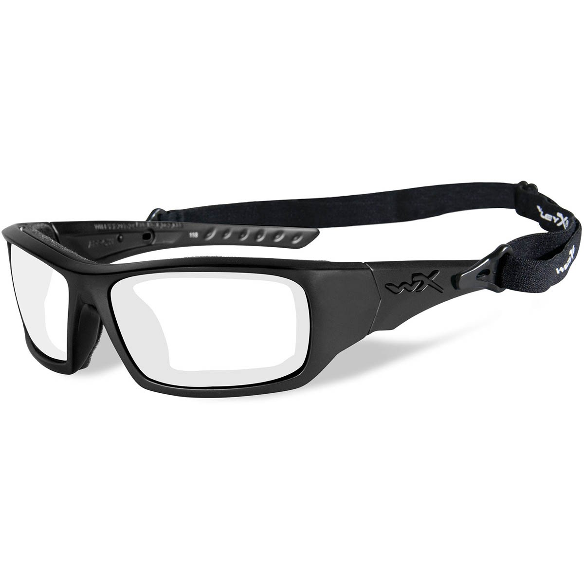 3143ef58ca Wiley X CCARR03 WX Arrow Safety Glasses - Matte Black Frame - Clear ...