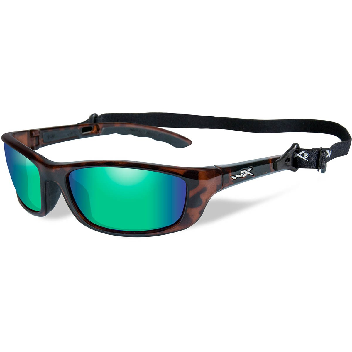 3af7fa2fa0 Wiley X P-17 Sunglasses - Gloss Demi Frame - Polarized Emerald Mirror Lens.  WX-P-17KA. WX-P-17KA