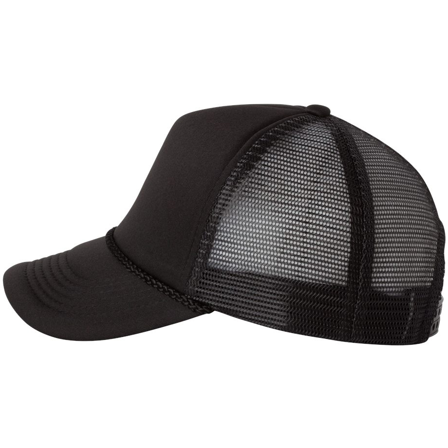 167ba49cadff3 Valucap VC700 Foam Trucker Cap - Black Black