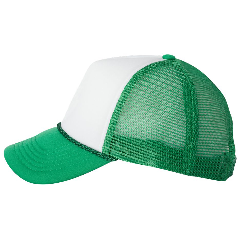 2d617cb7fc1e2 Valucap VC700 Foam Trucker Cap - White Kelly