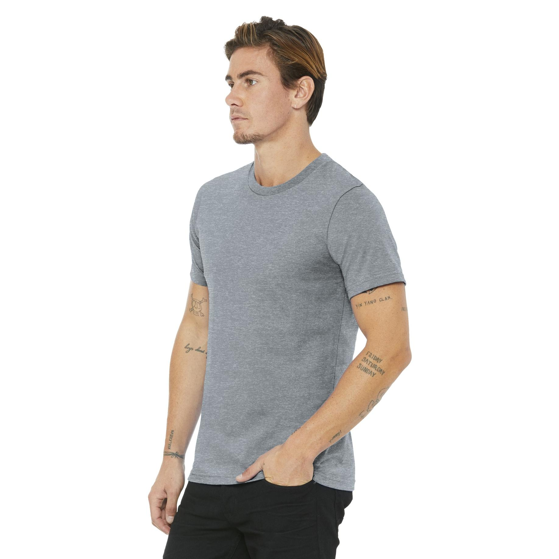 a812cbc90 Bella + Canvas BC3001U Unisex Made In The USA Jersey Short Sleeve Tee -  Athletic Heather | FullSource.com