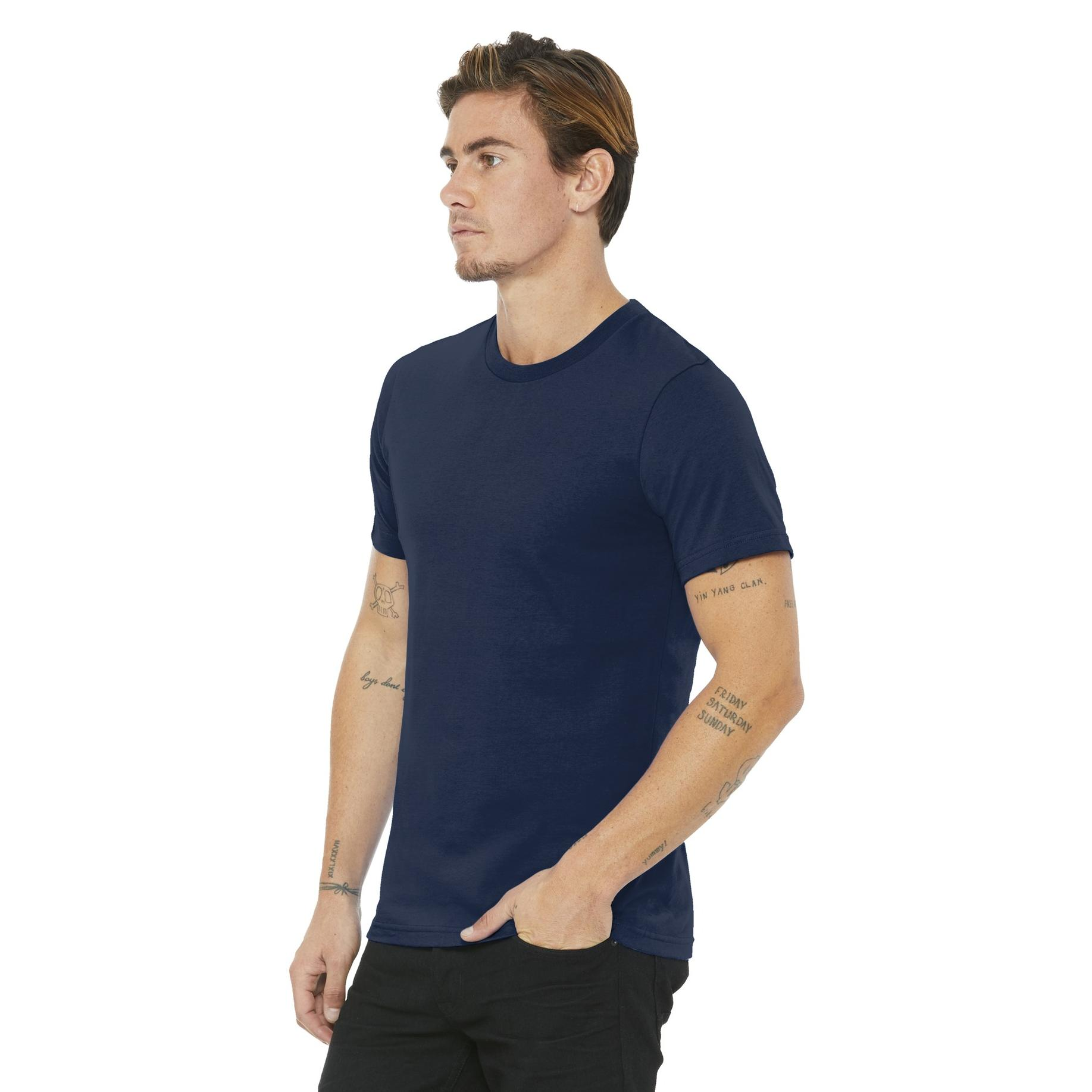 3b58dbc02 Bella + Canvas BC3001U Unisex Made In The USA Jersey Short Sleeve Tee -  Navy | FullSource.com