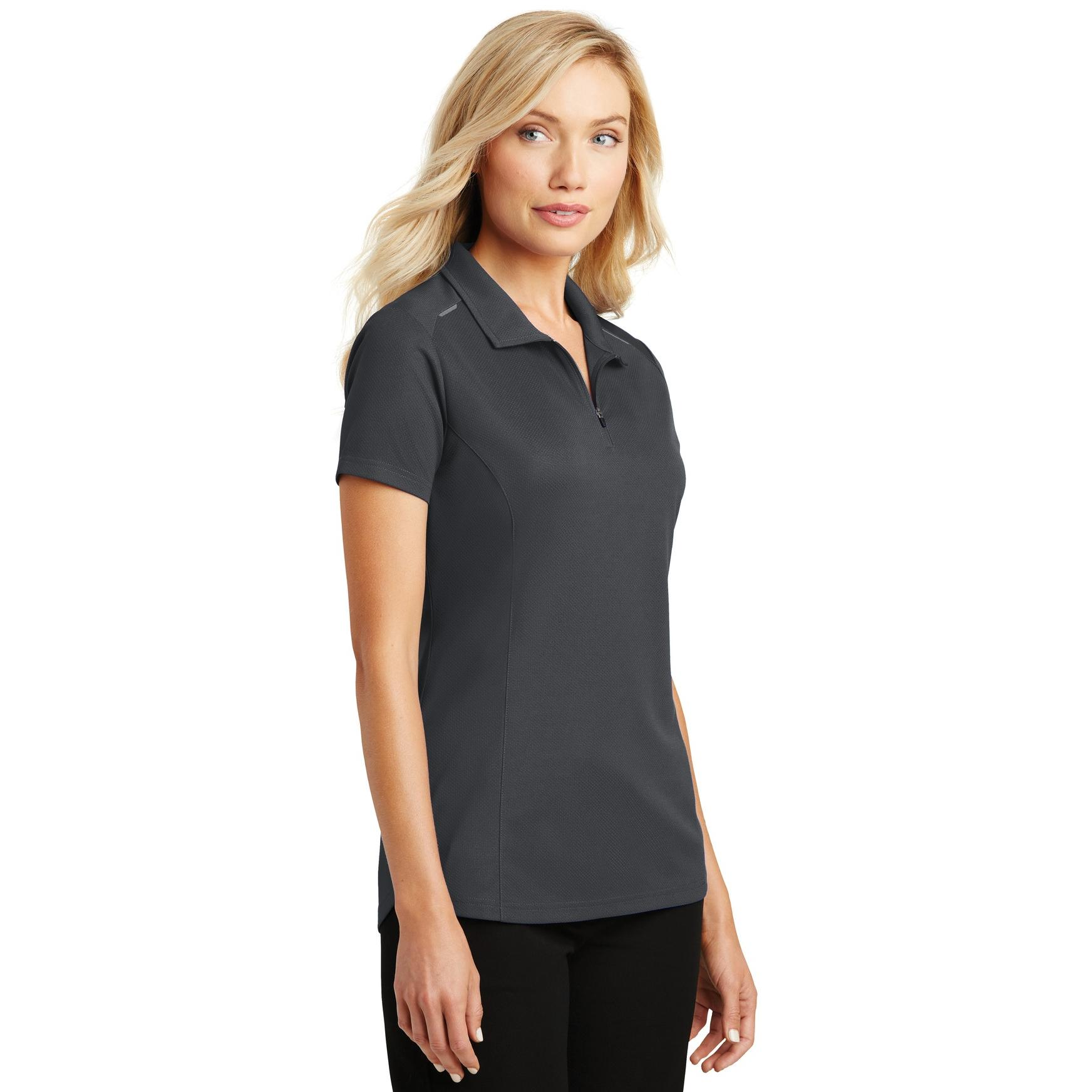 Port Authority L580 Ladies Pinpoint Mesh Polo Battleship