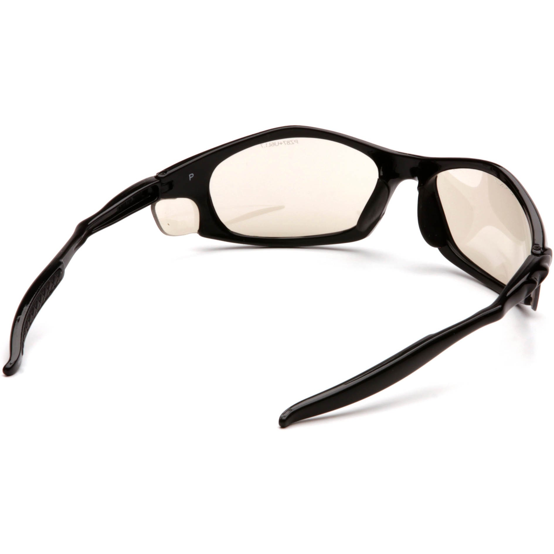 41d0b3e6d8c Pyramex Solara Safety Glasses - Black Frame - Indoor Outdoor Mirror Lens