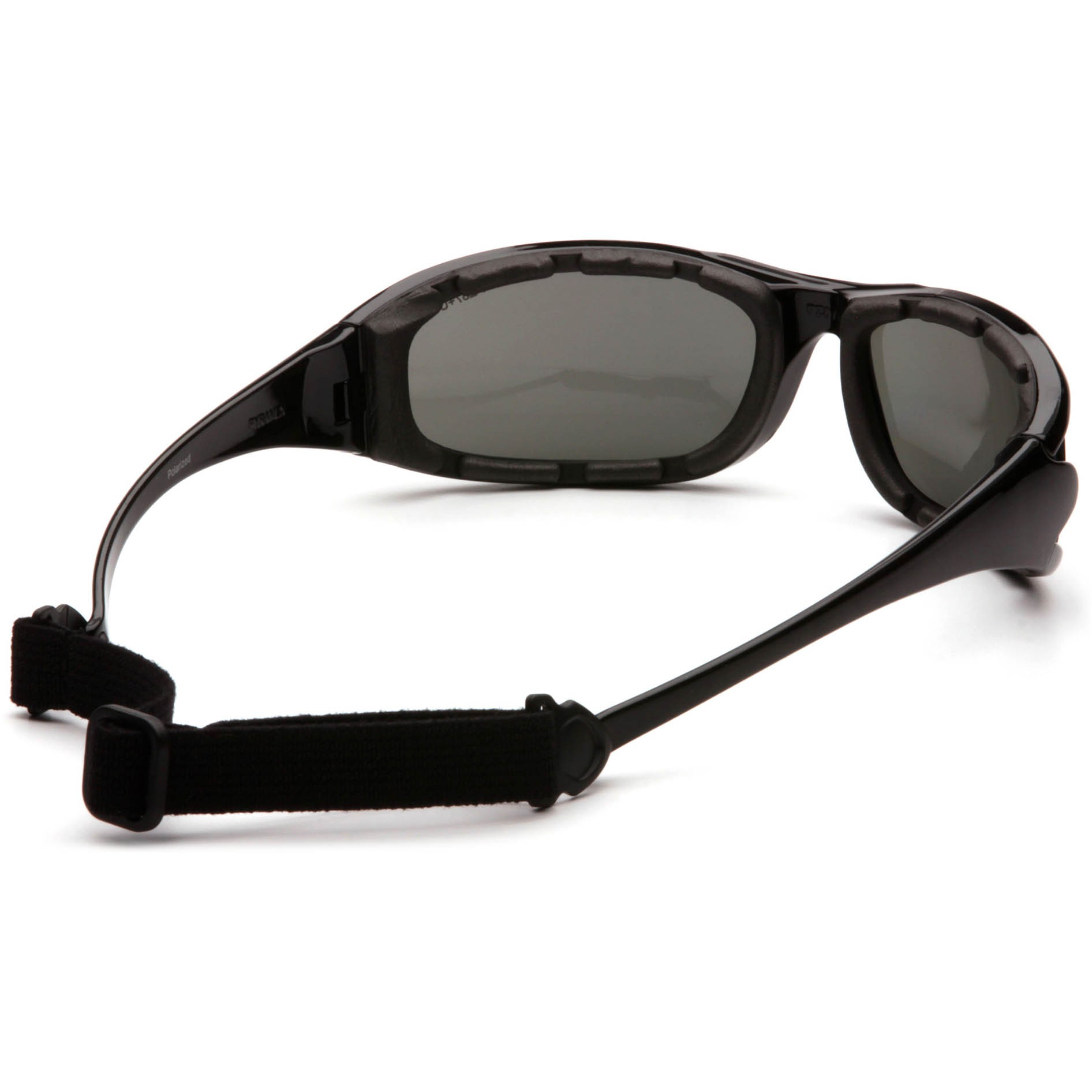 32d904f90be Pyramex PMXCEL Safety Glasses - Black Foam Lined Frame - Gray Polarized  Anti-Fog Lens
