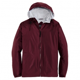 Port Authority JP56 Team Jacket - Maroon/Light Oxford
