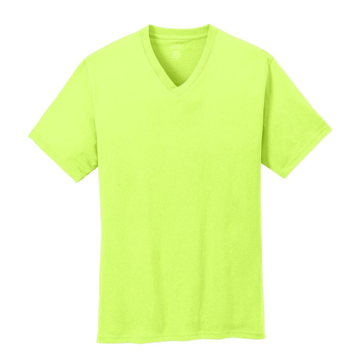 Port & Company PC54V 5.4-oz Cotton V-Neck T-Shirt - Neon ...