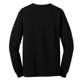 Gildan 5400 Heavy Cotton Long Sleeve T-Shirt - Black | FullSource.com