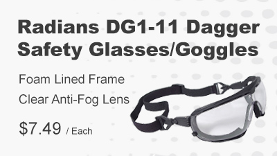Radians Dagger Safety Glasses Goggles